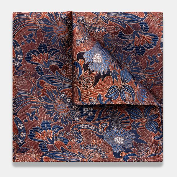 BORZANO POCKET SQUARE, Orange, hi-res